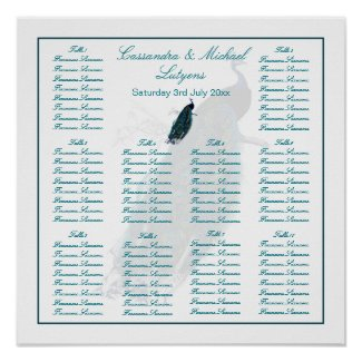 The Peacock Collection Table Seating Posters