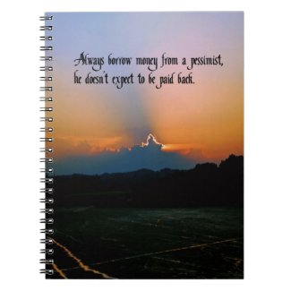 The Philosophy of a pessimist Spiral Note Books