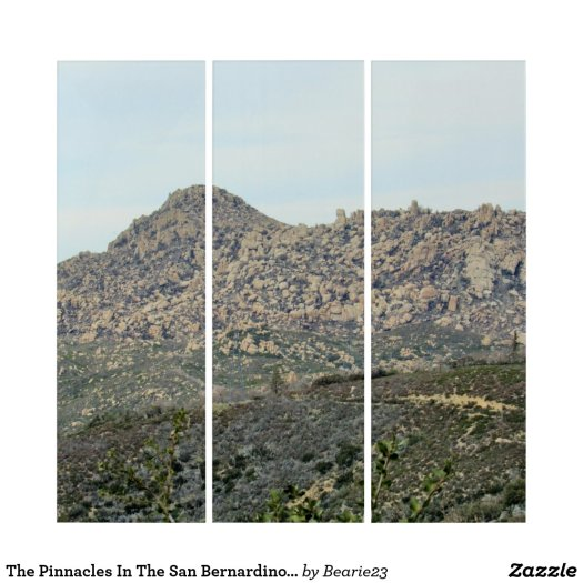 The Pinnacles In The San Bernardino Mountains Triptych