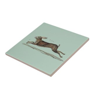The Racing Hare at Easter Tiles