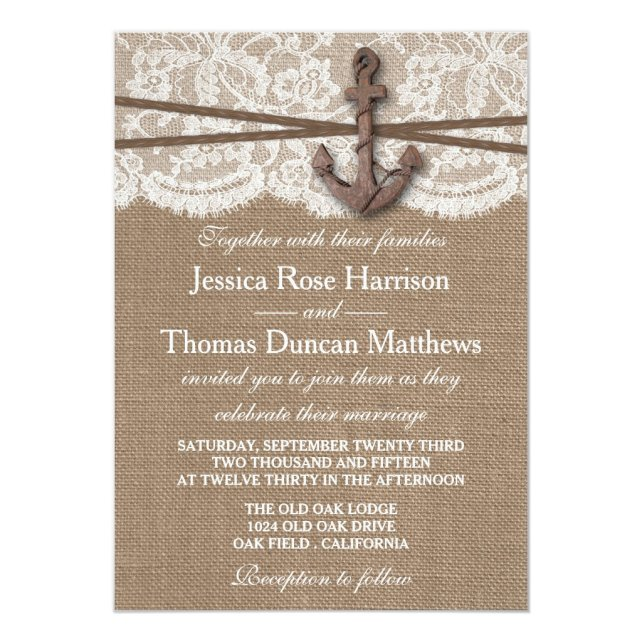 The Rustic Nautical Anchor Wedding Collection