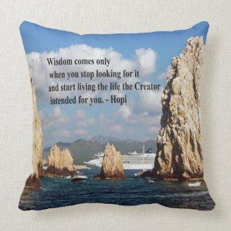 The secret path to wisdom throw pillow
