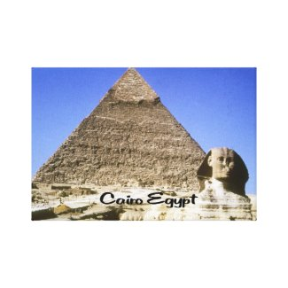 The Sphinx and Pyramid Canvas Print