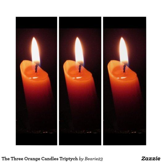 The Three Orange Candles Triptych