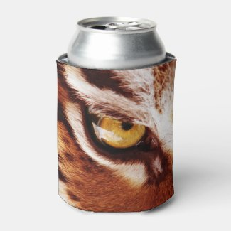 The Tiger's Eye Photograph Can Cooler
