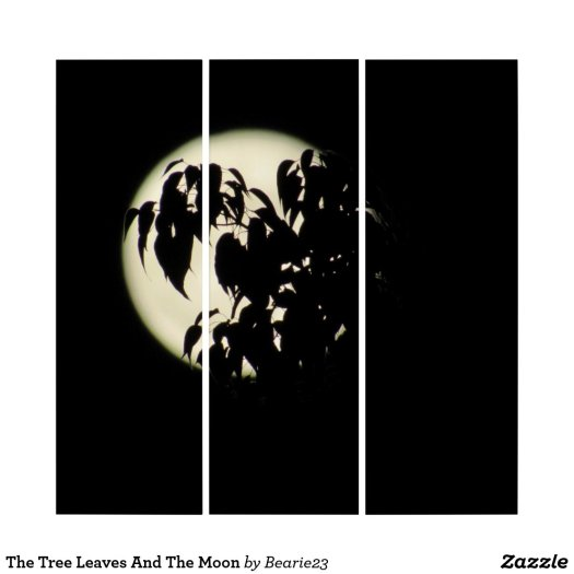 The Tree Leaves And The Moon Triptych