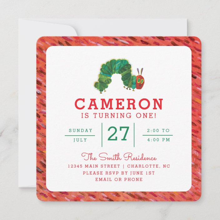 the very hungry caterpillar birthday invitation zazzle com