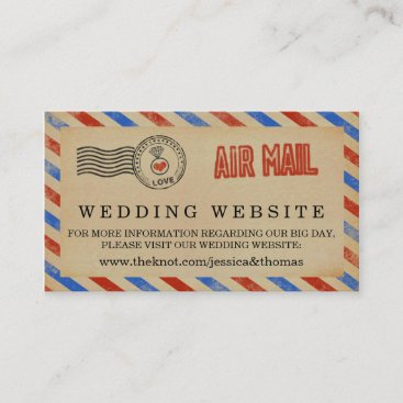 The Vintage Airmail Wedding Collection Enclosure Card