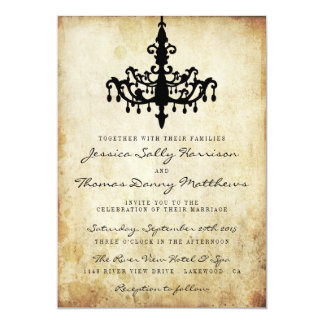The Vintage Chandelier Wedding Collection Card