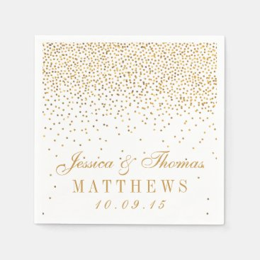 The Vintage Glam Gold Confetti Wedding Collection Paper Napkins