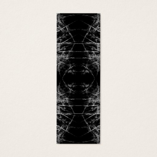 The Way In. Fractal Art. Monochrome Mini Business Card