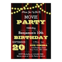 Theater Lights Yellow All Occasion Invitation