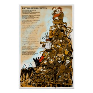 'They might not be giants' poem poster