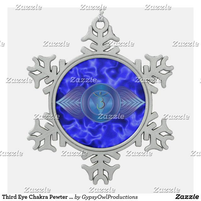 Third Eye Chakra Pewter Snowflake Ornament