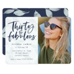 thirty and fabulous birthday party photo invite