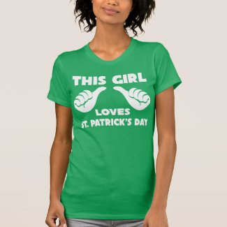 this girl loves st day funny t shirt