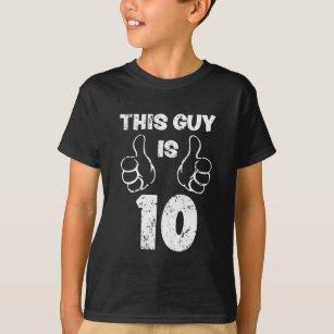 10th Birthday T Shirts 10th Birthday T Shirt Designs Zazzle