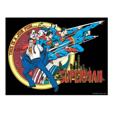 This is a job for�Superman Postcard