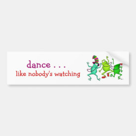 Three Dancing Frogs Bumper Sticker