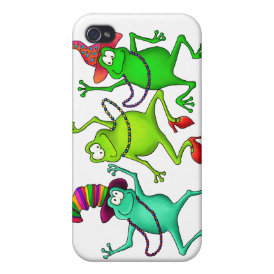 Three Dancing Frogs Cover For iPhone 4
