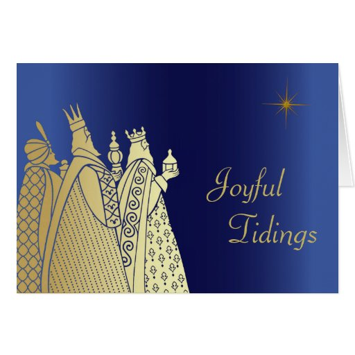 Three Wise Men Custom Christmas Greeting Card Zazzle