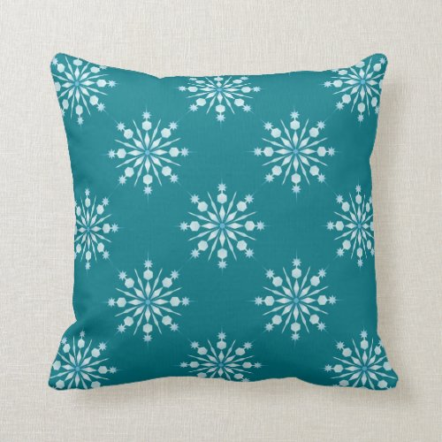Throw Pillow/Snowflakes Throw Pillow