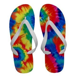 Tie Dyed Psychedelic Flip-Flops