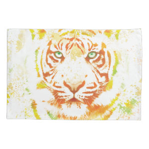 Tiger Art Paint Pillowcase