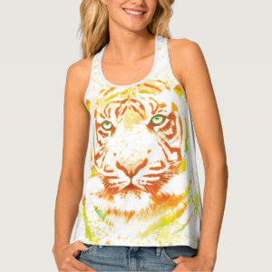 Tiger Art Paint Tank Top