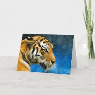 Tiger Art Painting Card