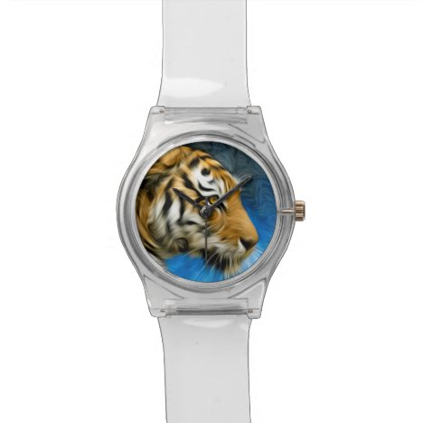 Tiger Art Painting Watch