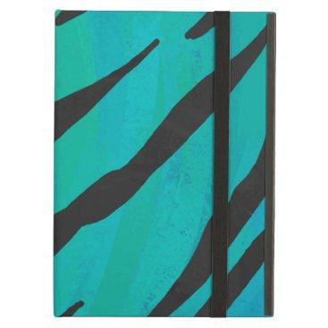 Tiger Black and Teal Print iPad Air Case