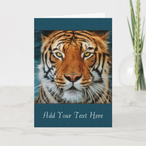 Tiger Custom Text Card