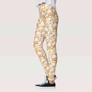 Tiger Face Pattern Design Leggings