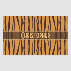 Tiger Stripes Skin Pattern Personalize Stickers