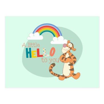 Tigger - A Little Hello To You Postcard