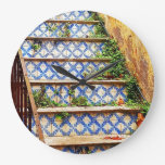 TILED STAIRS LARGE CLOCK