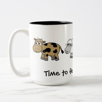 Time to feed the animals! Virtual Farmers mug