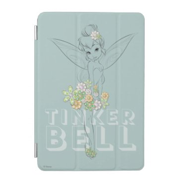 Tinker Bell Sketch With Jewel Flowers iPad Mini Cover