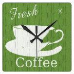 Tintable Rustic Coffee Clock