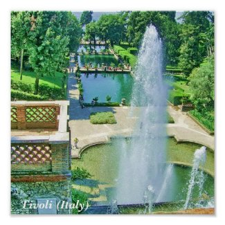 Tivoli Fountains (Italy) Poster print