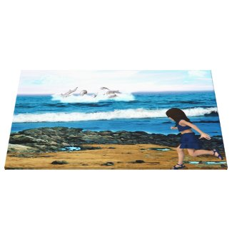 To See the Dolphins Canvas Prints
