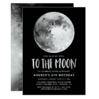 To The Moon | Birthday Party Invitation