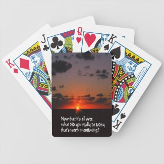 Today is important bicycle playing cards