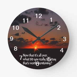 Today is important round wall clocks