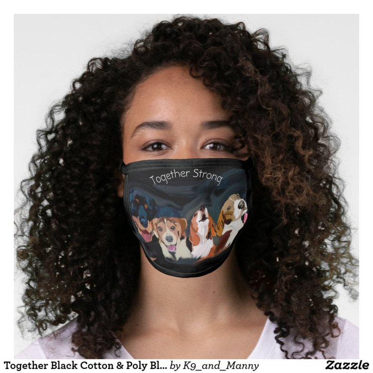 Together Black Cotton & Poly Blend Facemask Face Mask