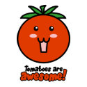 Tomatoes are Awesome postcard