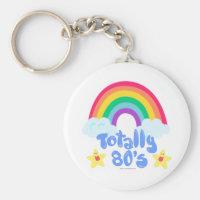 Totally 80s rainbow keychain
