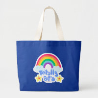 Totally 80s rainbow large tote bag