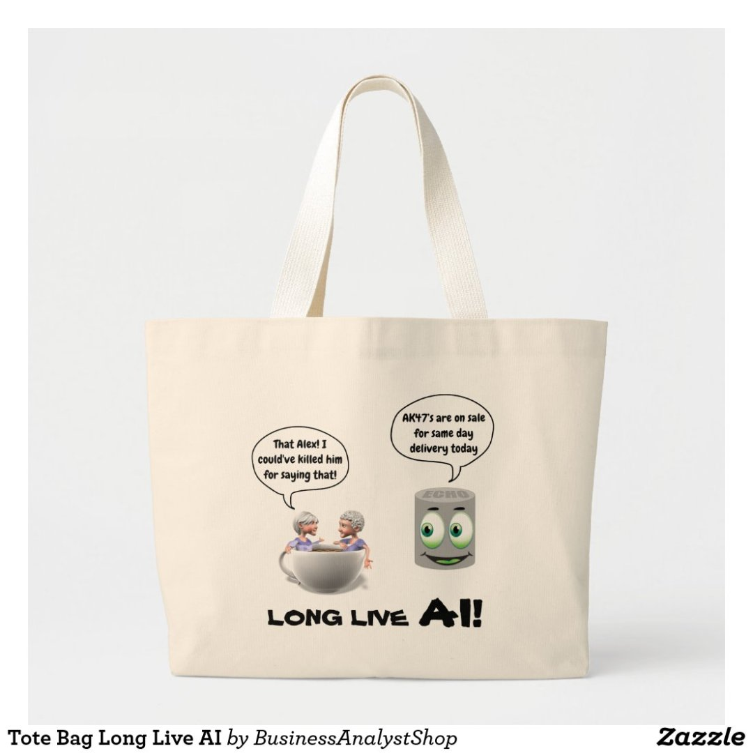 Tote Bag Long Live AI
